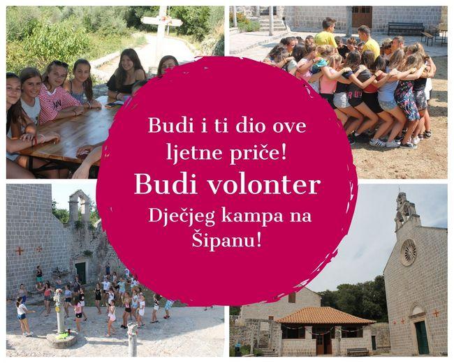 Budi i ti dio ove ljetne priče Budi volonter na Ljetnom kapu na Šipanu W