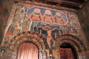 Mural inside Church of Debre Birhan Selassie (Trinity and Mountain Light), Gondar, Ethiopia